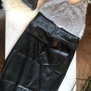 ASOS Faux Leather Wrap Skirt